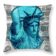 Million Dollar Pile Throw Pillow
