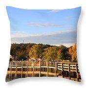 Mills Falls In October Throw Pillow