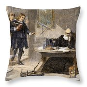 Milton And Galileo, 1638-39 Throw Pillow