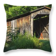 Milton Dye Covered Bridge  Throw Pillow
