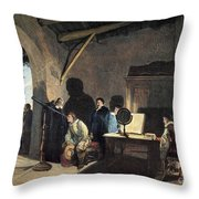 Milton Visiting Galileo Throw Pillow