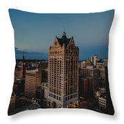 Milwaukee Aerial. Throw Pillow