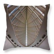 Milwaukee Art Museum Hall Throw Pillow