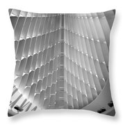 Milwaukee Art Museum Interior B-w Throw Pillow