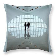 Milwaukee Art Museum Shadows Throw Pillow