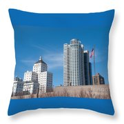Milwaukee Cityscape Throw Pillow