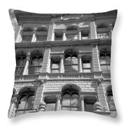 Milwaukee Cloud Reflections Bw Throw Pillow