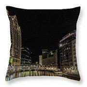 Milwaukee Downriver Throw Pillow
