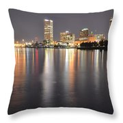 Milwaukee Skyline 2012 Throw Pillow