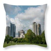 Milwaukee Skyline From Veterans Park 1 Throw Pillow