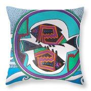 Mimbres Inspired #3a Throw Pillow