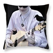 Mime And Guitar Throw Pillow