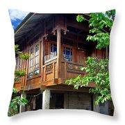 Minahasa Traditional Home 2 Throw Pillow