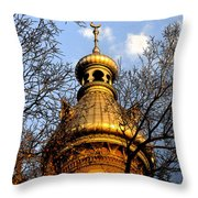 Minaret Through Oak Throw Pillow