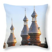 Minarets Over Tampa Throw Pillow by David Lee Thompson