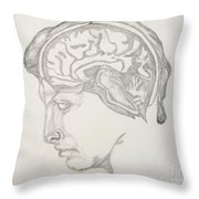 Mind And Thought Two Throw Pillow