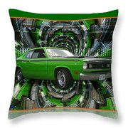 Mind Blown Duster Abstract Throw Pillow