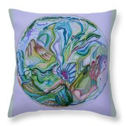 Mind Mandala Throw Pillow