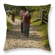 Mind Your Bussiness Throw Pillow by Atul Daimari