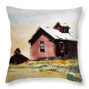 Mine Buildings Southern Cross Ghost Town Montana Throw Pillow
