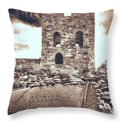 Mine Ruins Throw Pillow