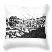 Minemata Throw Pillow