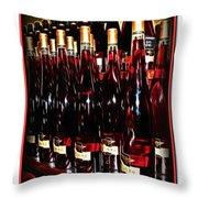 Miner Pink Sparkling Wine Throw Pillow