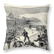 Miner Strike, 1888 Throw Pillow