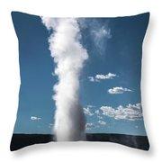 Old Faithful Eruption Throw Pillow by Mae Wertz