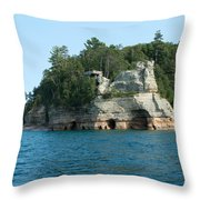 Miner's Castle On The Water Throw Pillow