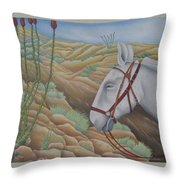 Miner's Companion Throw Pillow