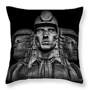 Miners In The Dark Throw Pillow