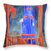 Miner's Overalls Throw Pillow