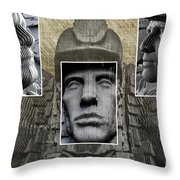 Miners Triptych Throw Pillow