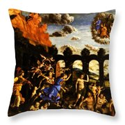 Minerva Chasing The Vices From The Garden Of Virtue 1502 Throw Pillow