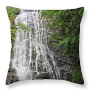 Mingo Falls In The Spring Throw Pillow
