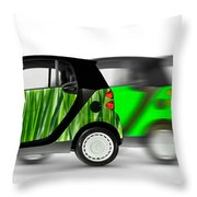 Mini Cars Throw Pillow