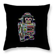 Mini D Robot Throw Pillow
