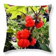 Mini Pumpkin Tree  Throw Pillow