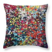 Mini Roses Throw Pillow