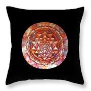 Mini Sri Yantra Kupfer Lichtmandala  Throw Pillow