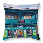 Mini Super Diana Throw Pillow