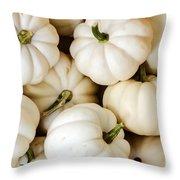 Mini White Pumpkins Throw Pillow