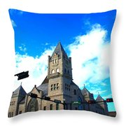 Miniature Castle Throw Pillow