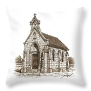 Miniature Church Of Froberville Throw Pillow