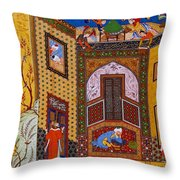 Miniature From Rose Garden Of The Pious Throw Pillow