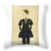 Miniature Portrait Of Charles Throw Pillow