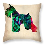 Miniature Schnauzer Poster 2 Throw Pillow