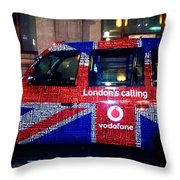 Minicab Throw Pillow