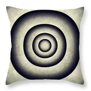 Minimal Grunge 3d Abstraction Throw Pillow